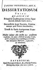 Dissertationum Trias