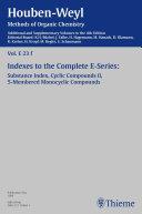 Houben-Weyl Methods of Organic Chemistry Vol. E 23f, 4th Edition Supplement