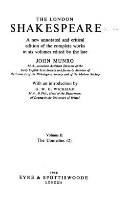 The comedies  v 3  The histories  v  4  The histories  The poems  v 5 6  The tragedies PDF