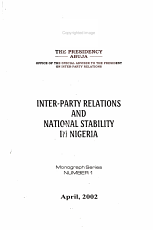 Inter party Relations and National Stability in Nigeria PDF