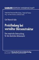 Preisfindung bei verteilter B  rsenstruktur PDF