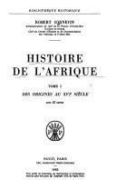 Download Histoire de L Afrique  Des origines au XVIe si  cle Book