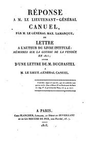 Réponse a M. le Lieutenant-Général Canuel