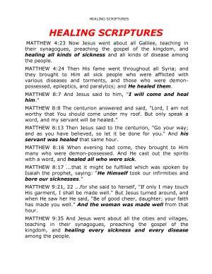 Healing Scriptures PDF