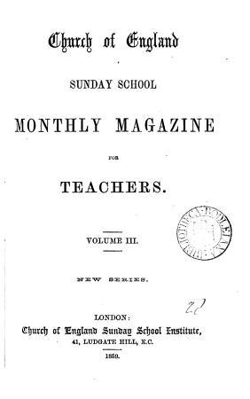 Church of England sunday school monthly magazine for teachers PDF