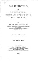 God in History  Or  Facts Illustrative of the Presence   Providence of God in the Affairs of Men PDF