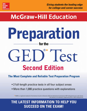 McGraw Hill Education Preparation for the GED Test 2nd Edition