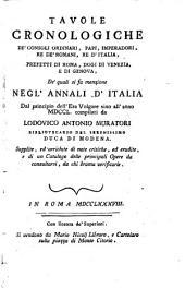 Annali d'Italia ... sino all'anno mdccl, colle prefazioni critiche di G. Catalani. (Continuati sino ai giorni nostri dall'a ... G ... O ... V ... ). Tom. 1, pt.1-tom. 15, pt.1 [and] Tavole cronologiche