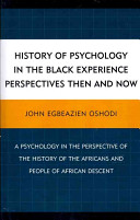 History of Psychology in the Black Experience Perspectives Then and Now PDF