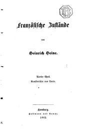 Heinrich Heine's Sämmtliche Werke: Bd. Französischen Zustände (4. Theil. Kunstberichte aus Paris)