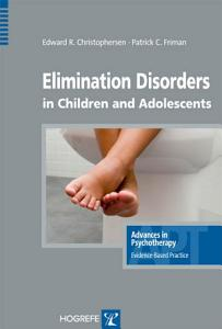 Elimination Disorders in Children and Adolescents Book