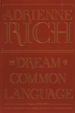 The Dream of a Common Language  Poems 1974 1977 PDF
