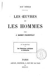 Les oeuvres et les hommes 19. siècle par J. Barbey d'Aurevilly: Les historiens politiques et littéraires, Volume2