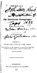 Journals of the American Congress: from 1774-1788