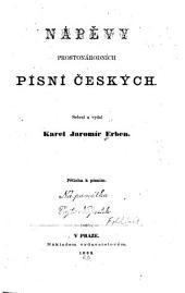 Prostonárodní české písně a říkadla s přílohou nápěvů