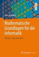 Mathematische Grundlagen f  r die Informatik PDF