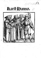 Karst Hanns  A dialogue  by U  von Hutten  directed against the temporal power of the Pope  the speakers  Murner  Karsthans  Studens  Luther  and Mercurius PDF