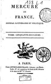Mercure de France: Volume52