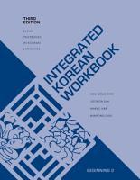 Integrated Korean Workbook PDF