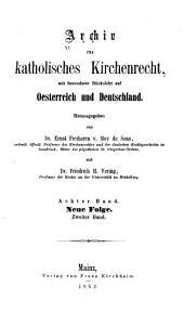 Archiv für katholisches Kirchenrecht: Band 8
