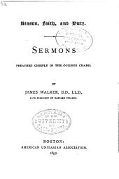 Sermons Preached Chiefly in the College Chapel: Volumes 1-2