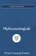 MyAccountingLab with Pearson EText    Access Card    for Horngren s Financial and Managerial Accounting  the Financial Chapters
