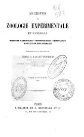 Archives de zoologie expérimentale et générale: Volume4