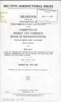 SEC CFTC Jurisdictional Issues PDF