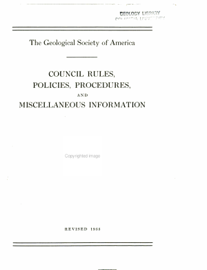 Council Rules  Policies  Procedures and Miscellaneous Information