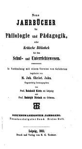 Jahnscher Jahrbücher für Philologie und Paedagogik: Bände 61-62