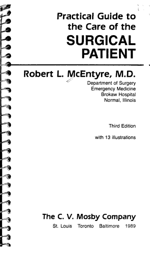 Practical Guide to the Care of the Surgical Patient PDF