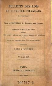 Bulletin des lois de la Republique Francaise: Volume11;Volume1851;Volume1855
