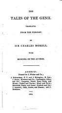 The Tales of the Genii  Translated from the Persian  by Sir Charles Morell  With Memoirs of the Author PDF