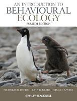 An Introduction to Behavioural Ecology PDF