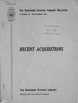 Recent Acquisitions PDF