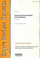 Chemical Characterisation of Polyurethanes PDF