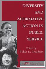 Diversity And Affirmative Action In Public Service PDF