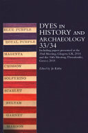 Dyes in History and Archaeology 33 34 PDF