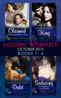 Modern Romance October 2015 Books 1 4  Claimed for Makarov s Baby   An Heir Fit for a King   The Wedding Night Debt   Seducing His Enemy s Daughter PDF