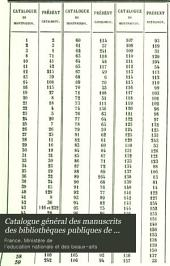 Catalogue général des manuscrits des bibliothèques publiques de France: Volume10