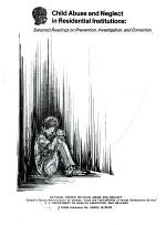 Child Abuse and Neglect in Residential Institutions