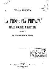 La proprietà privata nelle guerre marittime secondo il diritto internazionale pubblico