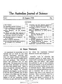 The Australian Journal of Science