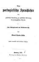 Neue portugiesische Sprachlehre0 PDF
