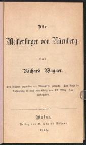 Die Meistersinger von Nürnberg: Band 3
