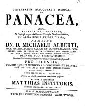 Diss. inaug. med. de panacea