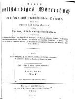 Neues vollst  ndiges W  rterbuch der deutschen und franz  sischen Sprache     A   K PDF