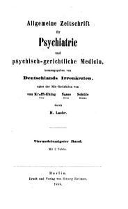 Allgemeine Zeitschrift f  r Psychiatrie und psychisch gerichtliche Medizin PDF
