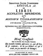 Epistola de libris accuratius imprimendis