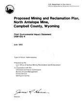 Proposed mining and reclamation plan, North Antelope mine, Campbell County, Wyoming: final environmental impact statement